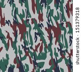 seamless camouflage dark green... | Shutterstock . vector #151379318