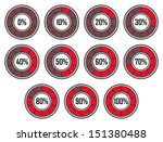 set of red round loader... | Shutterstock . vector #151380488