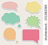 set of colorful speech bubbles... | Shutterstock . vector #151382585