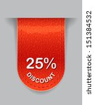glossy label with discount value | Shutterstock . vector #151384532