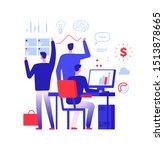 multitasking manager.... | Shutterstock . vector #1513878665