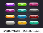 cartoon buttons. colorful video ...