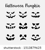 a set of scary halloween | Shutterstock . vector #1513879625