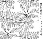 palm leaves. black and white... | Shutterstock .eps vector #1513883228