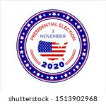 2020 united states of american... | Shutterstock .eps vector #1513902968