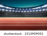 Athlete Running Track In A...