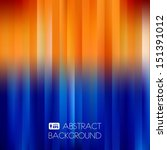 Blue Orange Abstract Striped...