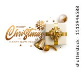 merry christmas and new year... | Shutterstock .eps vector #1513946588