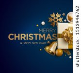merry christmas and new year... | Shutterstock .eps vector #1513946762