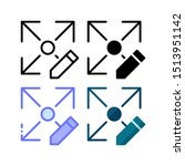 size edit icon. with outline ...