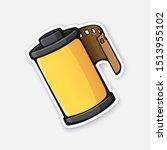 vector illustration. photo film ... | Shutterstock .eps vector #1513955102