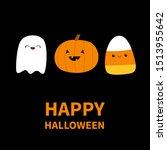 happy halloween. candy corn ... | Shutterstock .eps vector #1513955642