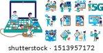 living in the high technology... | Shutterstock .eps vector #1513957172