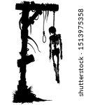 illustration a fantasy horror... | Shutterstock .eps vector #1513975358