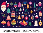 decorative christmas collection ... | Shutterstock .eps vector #1513975898