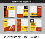 gym square banner template....   Shutterstock .eps vector #1513980512