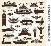 set of halloween design... | Shutterstock .eps vector #151398356