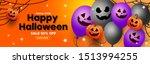 halloween sale banner with... | Shutterstock .eps vector #1513994255