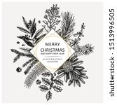 elegant design with conifer... | Shutterstock .eps vector #1513996505