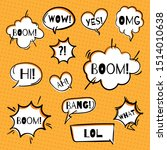 empty comic bubbles and...   Shutterstock .eps vector #1514010638