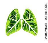 paper art of lung with tree and ...   Shutterstock .eps vector #1514014538