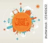 vector illustration of travel... | Shutterstock .eps vector #151402622