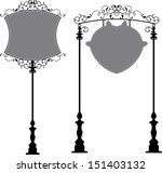 wrought iron signage | Shutterstock .eps vector #151403132