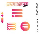 gradient menu icon packs vector ...