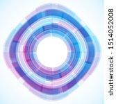 geometric frame from circles ... | Shutterstock .eps vector #1514052008