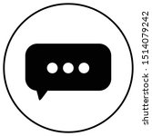 chat bubble or hat sign in...