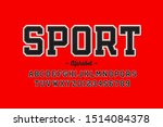 sports uniform style font ... | Shutterstock .eps vector #1514084378