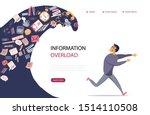 concept of information overload ... | Shutterstock .eps vector #1514110508