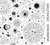 space galaxy constellation... | Shutterstock .eps vector #1514117345
