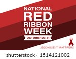national red ribbon week takes... | Shutterstock .eps vector #1514121002