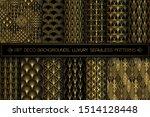 art deco patterns. seamless... | Shutterstock .eps vector #1514128448