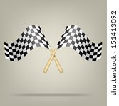 checkered racing flags. vector... | Shutterstock .eps vector #151413092