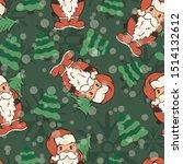 artoon santa claus with... | Shutterstock .eps vector #1514132612
