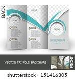 tri fold corporate business... | Shutterstock .eps vector #151416305