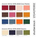 autumn winter 2019   2020 color ...   Shutterstock .eps vector #1514193302