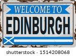 Retro Welcome To Edinburgh...
