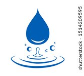 abstract blue water drop icons...   Shutterstock .eps vector #1514209595