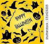 happy halloween | Shutterstock .eps vector #151423205