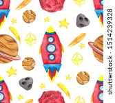 seamless pattern with... | Shutterstock . vector #1514239328