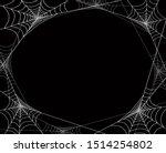 creepy spider webs frame for...   Shutterstock .eps vector #1514254802