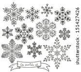 snowflakes set.  | Shutterstock .eps vector #151427426