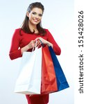 shopping woman portrait...   Shutterstock . vector #151428026