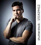 attractive man portrait. | Shutterstock . vector #151429412
