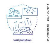 Soil Pollution Concept Icon....