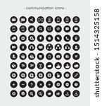 black and white communication... | Shutterstock .eps vector #1514325158