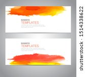 design banner with watercolor... | Shutterstock .eps vector #1514338622